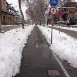 NEVICA? Pulite dai ciclisti del Monte Sole le piste ciclabili dei viali e di Via Sabotino