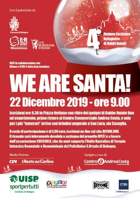 Domenica 22 dicembre – We are Santa!