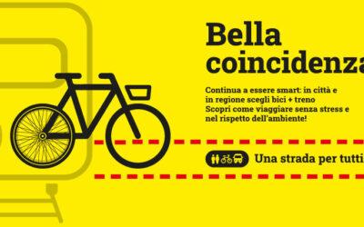 Riprende il contest creativo di bella coincidenza, per l'intermodalità bici + treno