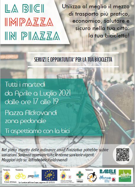 La bici impazza in piazza- tutti i martedì dal 4 maggio al 27 luglio in Piazza Aldrovandi ATTENZIONE NUOVO ORARIO!!!